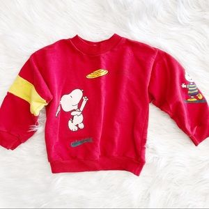Vintage Snoopy Peanuts Red Sweater Age4